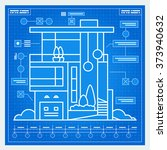 house blueprint scheme. vector. | Shutterstock .eps vector #373940632