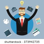 business  success and idea... | Shutterstock .eps vector #373942735
