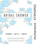 invitation wedding card with... | Shutterstock .eps vector #373943902