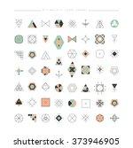 big set of minimal geometric...   Shutterstock .eps vector #373946905