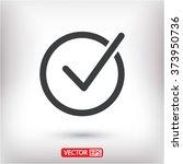 check vector icon   Shutterstock .eps vector #373950736