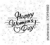 happy women's day hand drawn... | Shutterstock .eps vector #373954882