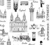 london landmark seamless... | Shutterstock .eps vector #373968352
