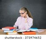 student. | Shutterstock . vector #373974652