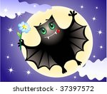 cute bat | Shutterstock .eps vector #37397572
