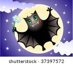 cute bat | Shutterstock .eps vector #37397572