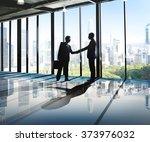 businessmen deal business... | Shutterstock . vector #373976032