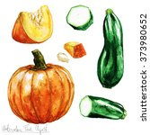 watercolor food clipart  ... | Shutterstock . vector #373980652