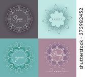 vector set of emblems  badges... | Shutterstock .eps vector #373982452