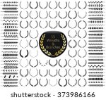 set of 55 wreaths and branches. ... | Shutterstock .eps vector #373986166