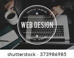 web design website homepage... | Shutterstock . vector #373986985