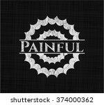 painful written with chalkboard ...   Shutterstock .eps vector #374000362