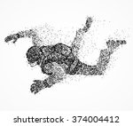 abstract person with a... | Shutterstock . vector #374004412