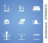 renewable icon part | Shutterstock .eps vector #374006272