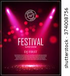 festival poster template with... | Shutterstock .eps vector #374008756