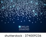 falling gems abstract... | Shutterstock .eps vector #374009236