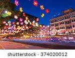 singapore   sep 27  chinatown... | Shutterstock . vector #374020012