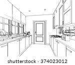 outline sketch drawing... | Shutterstock .eps vector #374023012