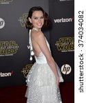actress daisy ridley at the... | Shutterstock . vector #374034082