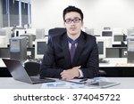 portrait of caucasian young... | Shutterstock . vector #374045722