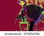 folk musicians | Shutterstock . vector #374056786