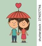 love card design  | Shutterstock .eps vector #374057746