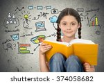 reading. | Shutterstock . vector #374058682