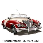retro car. | Shutterstock .eps vector #374075332
