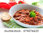goulash soup  | Shutterstock . vector #374076625
