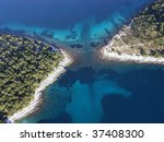 Aerial Photo Of Two Islands In...
