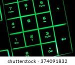 green light glow keyboard... | Shutterstock . vector #374091832
