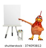 3d rendered illustration of hen ... | Shutterstock . vector #374093812