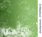 white dirty stain on the green... | Shutterstock . vector #374098612
