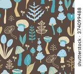 cute seamless vector pattern... | Shutterstock .eps vector #374099488