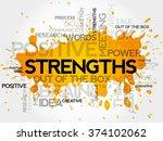 strengths word cloud  business... | Shutterstock . vector #374102062