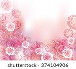 rose background | Shutterstock .eps vector #374104906