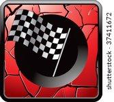racing checkered flag on... | Shutterstock .eps vector #37411672
