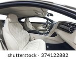 car luxury inside. interior of... | Shutterstock . vector #374122882