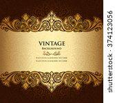 vintage ornamental background ... | Shutterstock .eps vector #374123056
