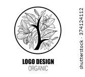 design elements for organic... | Shutterstock . vector #374124112