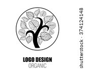 design elements for organic... | Shutterstock . vector #374124148