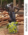 Small photo of Mopti, Mali-Aug.26, 2011. Malian woman