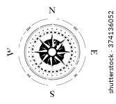 compass navigation dial  ... | Shutterstock .eps vector #374136052