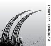 grunge background with black... | Shutterstock .eps vector #374138875