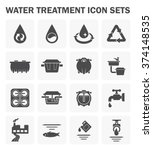 water treatment system and... | Shutterstock .eps vector #374148535