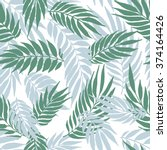 the seamless hand drawn pattern ... | Shutterstock .eps vector #374164426