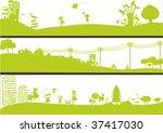 three landscapes | Shutterstock .eps vector #37417030
