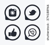 hipster photo camera icon. like ... | Shutterstock .eps vector #374188966