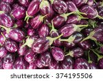 closeup view of asian eggplants.... | Shutterstock . vector #374195506