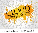 cloud application word cloud... | Shutterstock . vector #374196556